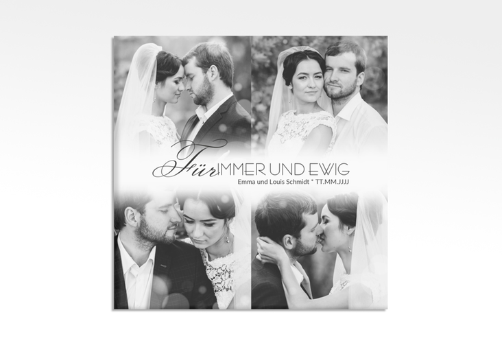 "Hochzeitscollage Leinwand ""Bokeh"" 30 x 30 cm Leinwand weiss"