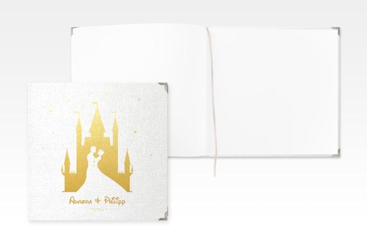 "Gästebuch Selection Hochzeit ""Castle"" Leinen-Hardcover gold"