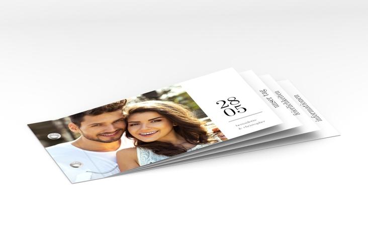 """Hochzeitseinladung """"Minimal"""" Booklet"""