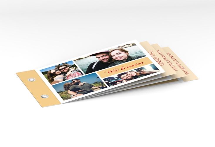 """Hochzeitseinladung """"Collage"""" Booklet"""