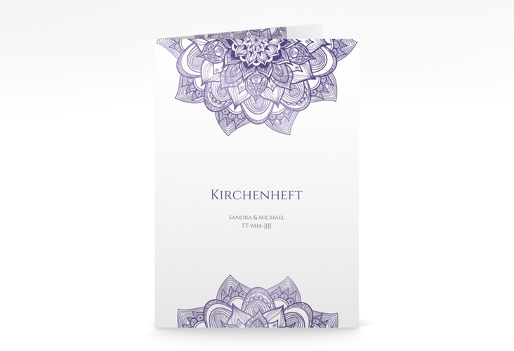 "Kirchenheft Hochzeit ""Delight"" DIN A5 geklappt lila"