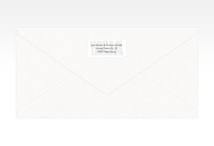 """Absenderetikett Hochzeit """"Letters"""" 45,7 x 21,2 mm"""