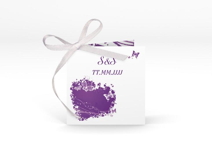 "Geschenkanhänger Hochzeit ""Mailand"" Geschenkanhänger 10er Set lila"