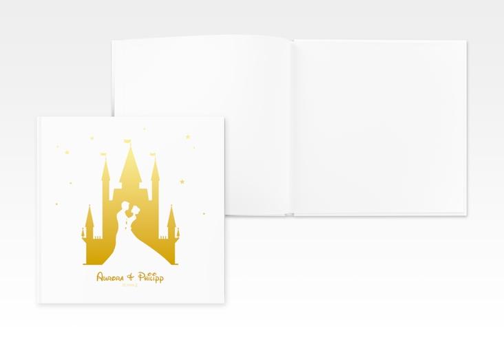 """Gästebuch Creation Hochzeit """"Castle"""" 20 x 20 cm, Hardcover gold"""