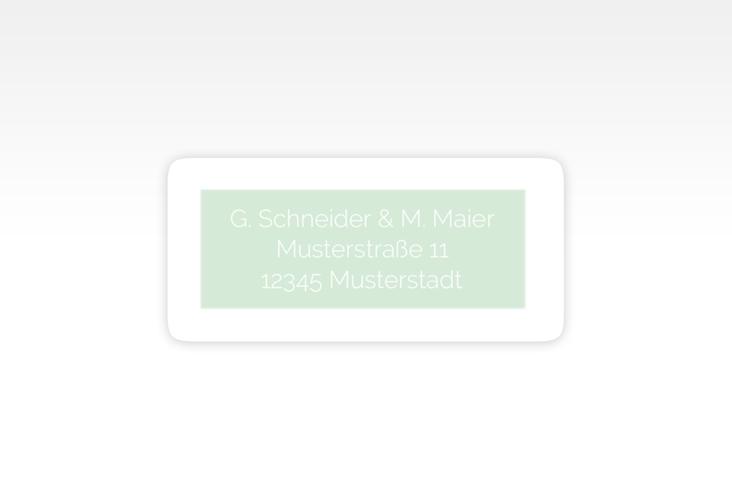 """Absenderetikett Hochzeit """"Simply"""" 45,7 x 21,2 mm mint"""