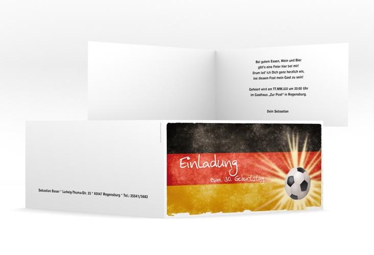 "Einladungskarte ""Markus"" DIN lang Klappkarte"