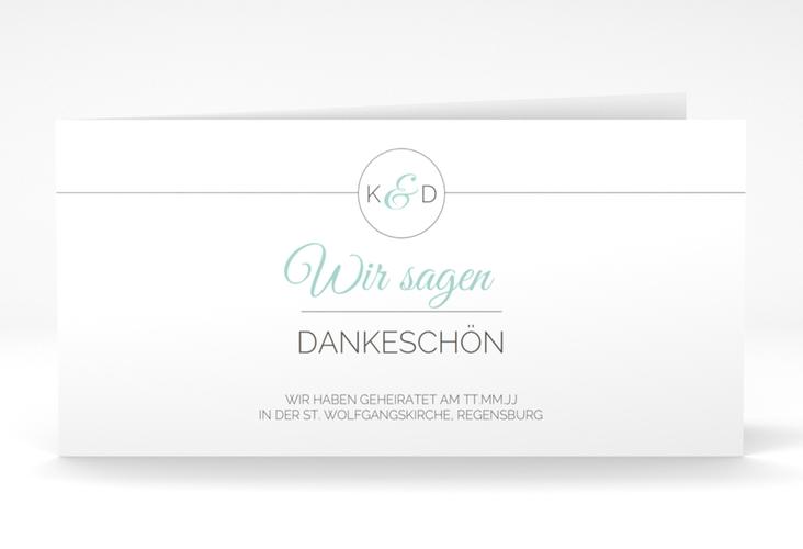 "Dankeskarte Hochzeit ""Unique"" DIN lang Klappkarte"