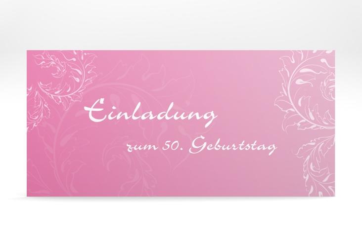 "Einladungskarte ""Peter/Petra"" DIN lang rosa"
