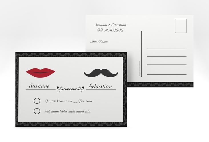 """Antwortkarte Hochzeit """"Montpellier"""" A6 Postkarte"""