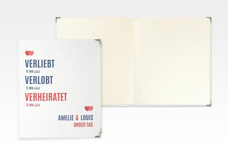 "Hochzeitsalbum ""Couple"" 21 x 25 cm rot"