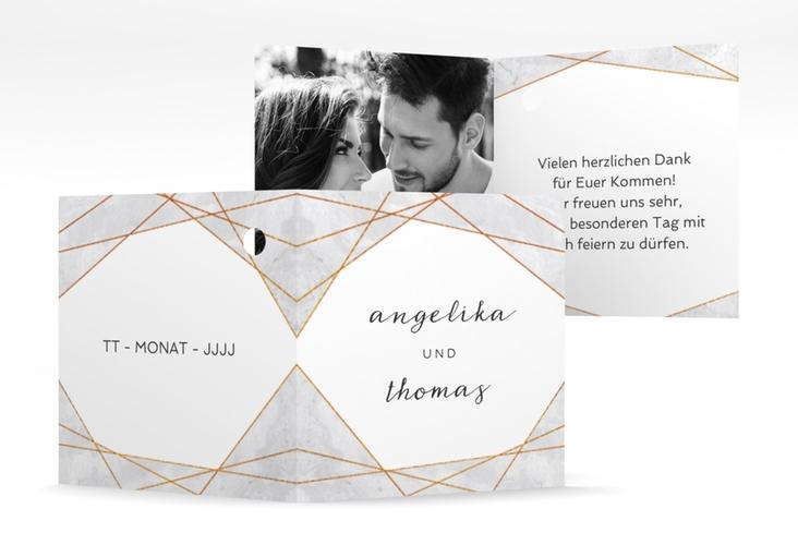 "Geschenkanhänger Hochzeit ""Asymmetry"" Geschenkanhänger 10er Set grau"