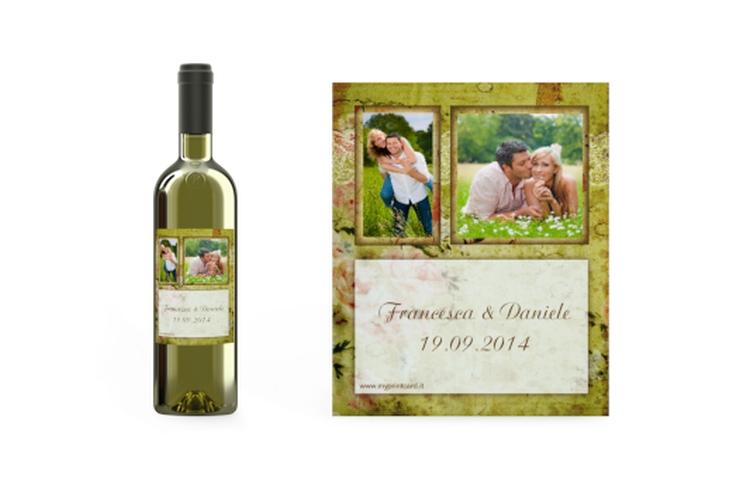 Etichette vino matrimonio collezione Parigi Etikett Weinflasche 4er Set