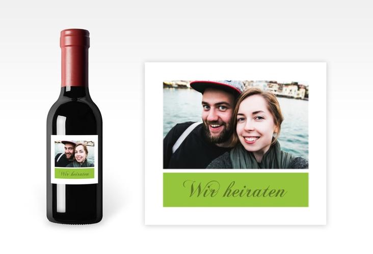 """Piccoloetikett Hochzeit """"Collage"""" Etikett Piccolo gruen"""