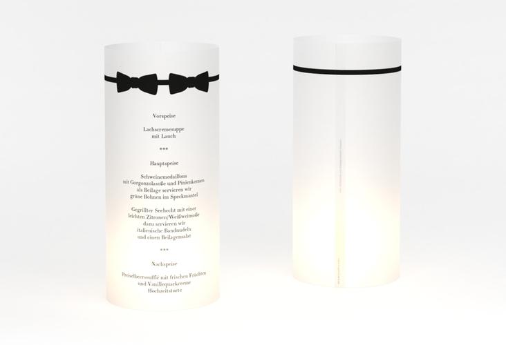 """Windlicht Menü Hochzeit """"Suits"""" Windlicht schwarz"""