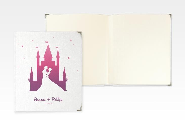 """Hochzeitsalbum """"Castle"""" 21 x 25 cm pink"""