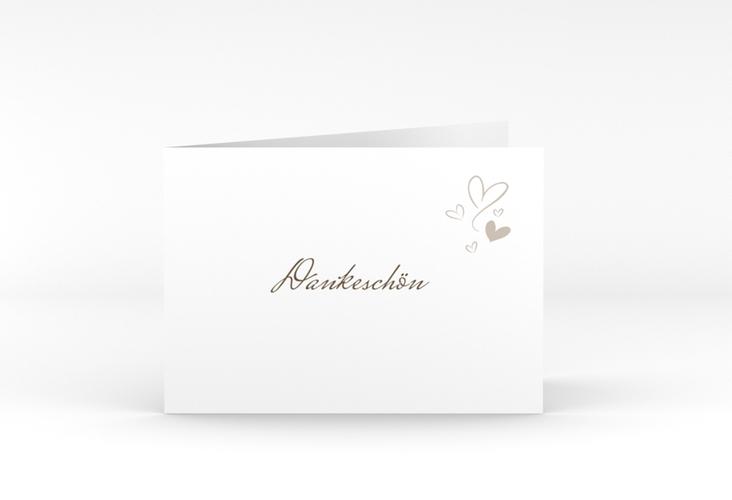 """Danksagungskarte Hochzeit """"Purity"""" A6 Klappkarte Quer weiss"""