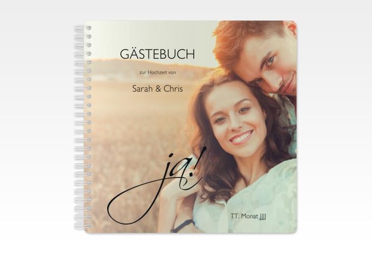 """Gästebuch Hochzeit """"Clarity"""" Ringbindung schwarz"""