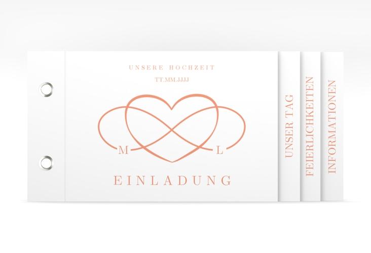 "Hochzeitseinladung ""Infinity"" Booklet apricot"