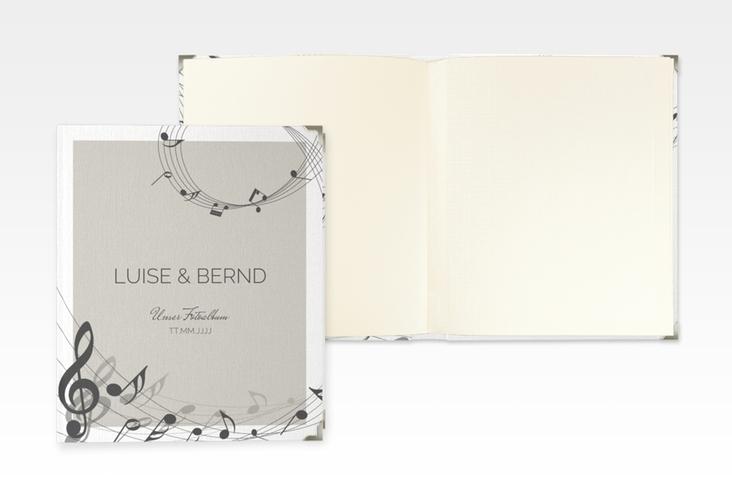 """Hochzeitsalbum """"Melody"""" 21 x 25 cm grau"""