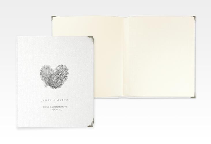 """Hochzeitsalbum """"Fingerprint"""" 21 x 25 cm schwarz"""