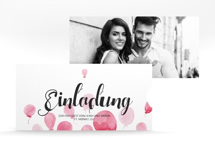 """Hochzeitseinladung """"Luftkuss"""" Einsteckkarte"""
