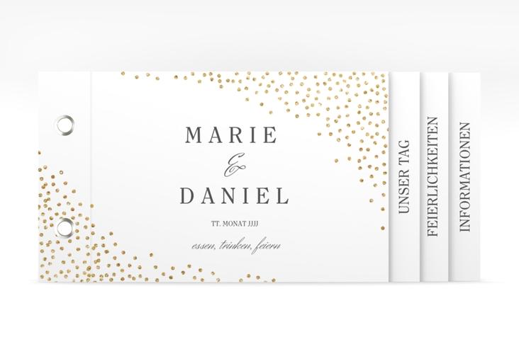 """Hochzeitseinladung """"Glitter"""" Booklet"""