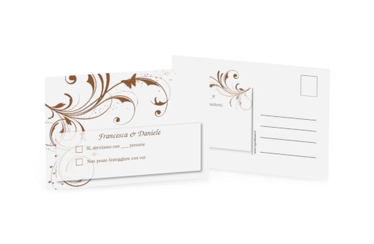 Biglietti risposta matrimonio collezione Palma A6 Postkarte