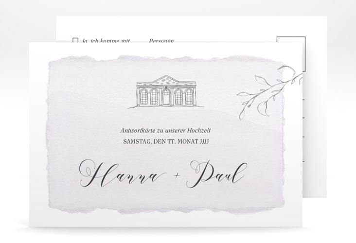 """Antwortkarte Hochzeit """"Villa"""" A6 Postkarte"""