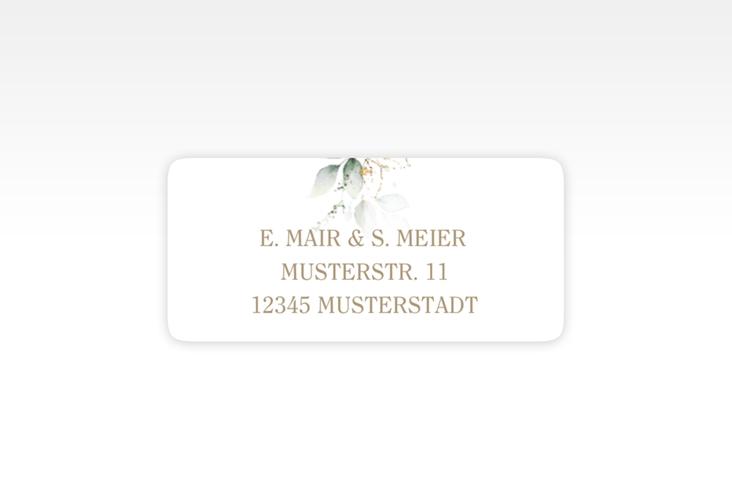 """Absenderetikett Hochzeit """"Selvatica"""" 45,7 x 21,2 mm weiss"""