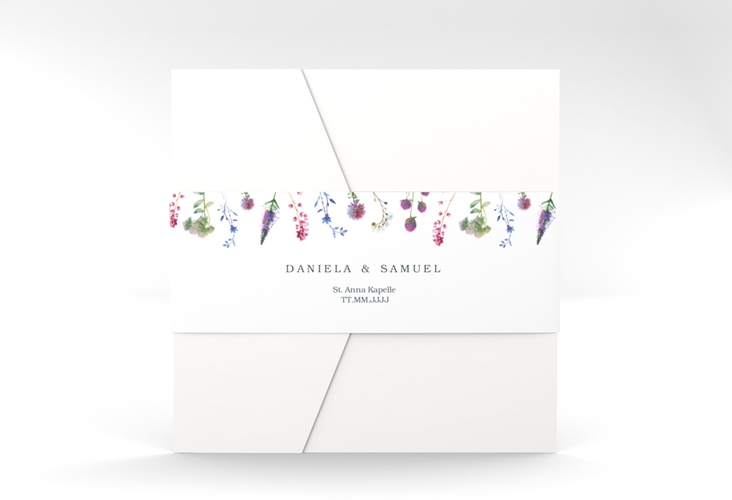 """Hochzeitseinladung """"Wildblumen"""" Pocketfold"""