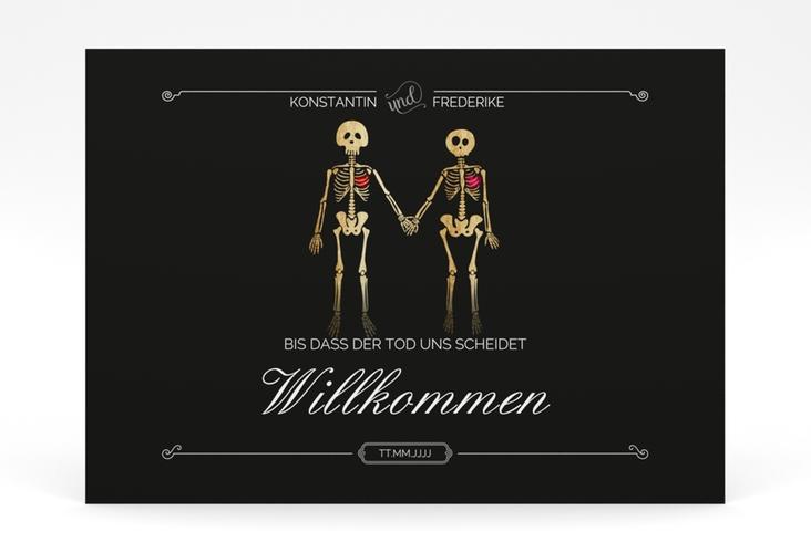 """Willkommensschild Poster """"Bones"""" 70 x 50 cm Poster schwarz"""