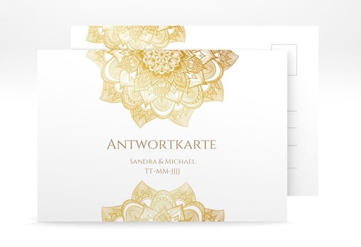 """Antwortkarte Hochzeit """"Delight"""" A6 Postkarte"""