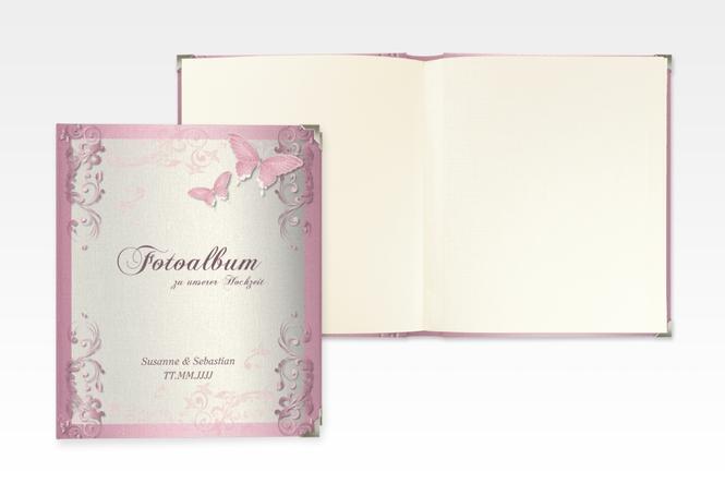 """Hochzeitsalbum """"Toulouse"""" 21 x 25 cm rosa"""