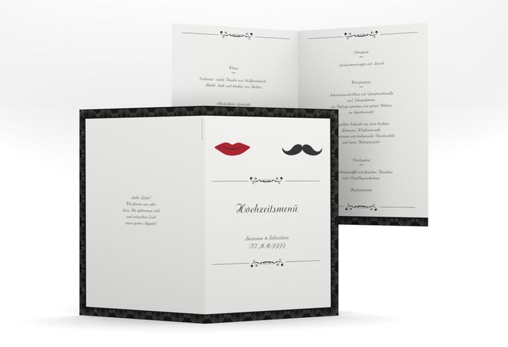 """Menükarte Hochzeit """"Montpellier"""" DIN A5 geklappt"""