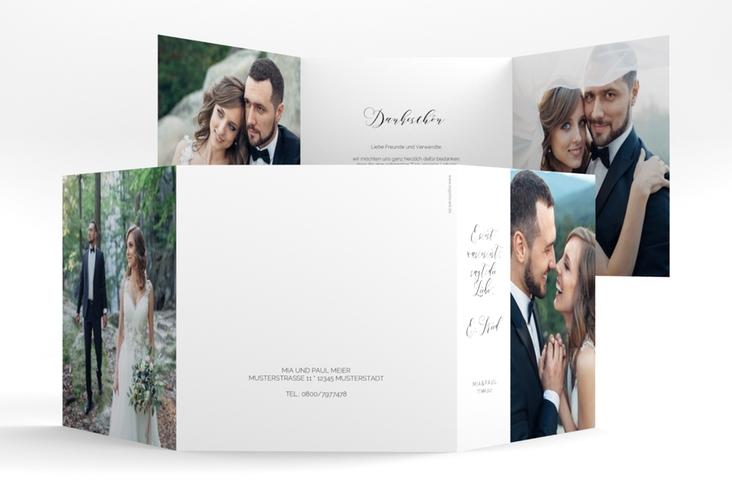 """Danksagungskarte Hochzeit """"Paperlove"""" Quadr. Karte doppelt"""