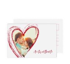 """Antwortkarte Hochzeit """"Liebe"""""""