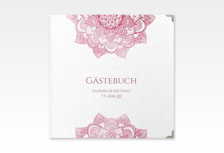 """Gästebuch Selection Hochzeit """"Delight"""" Leinen-Hardcover pink"""