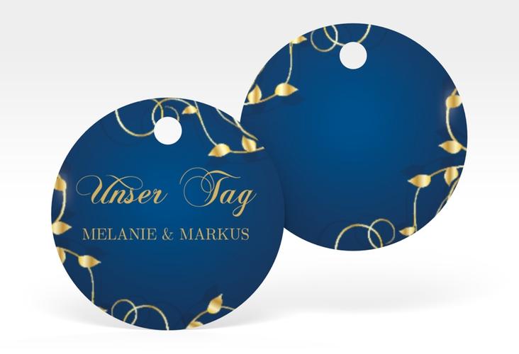 """Geschenkanhänger Hochzeit """"Eternity"""" Geschenkanhänger, rund blau"""