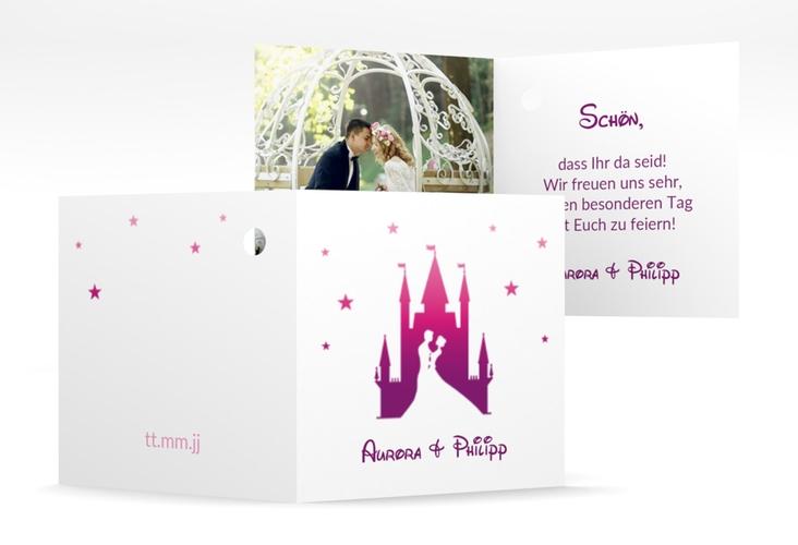 """Geschenkanhänger Hochzeit """"Castle"""" Geschenkanhänger 10er Set pink"""