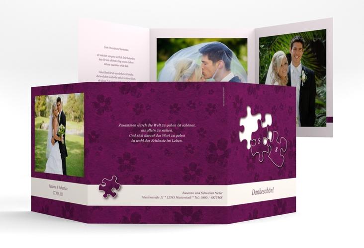 "Dankeskarte Hochzeit ""Ravensburg"" Quadr. Karte doppelt"