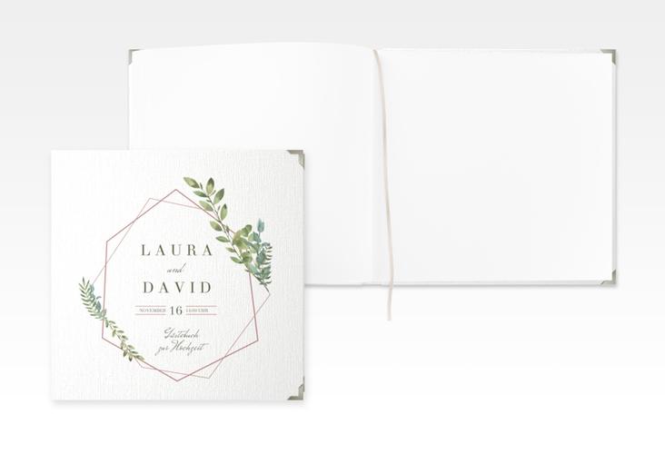 """Gästebuch Selection Hochzeit """"Herbarium"""" Leinen-Hardcover rosa"""