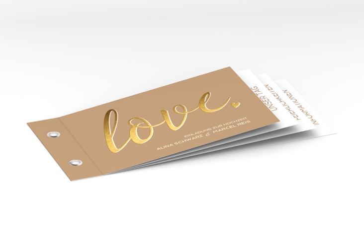 """Hochzeitseinladung """"Glam"""" Booklet"""