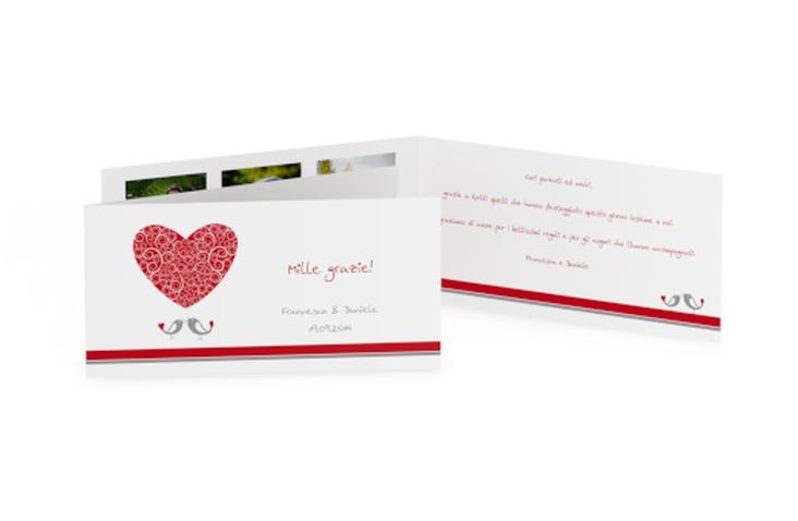Ringraziamenti matrimonio collezione Mantova DIN lang Klappkarte