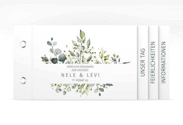 """Hochzeitseinladung """"Enchanting"""" Booklet weiss"""