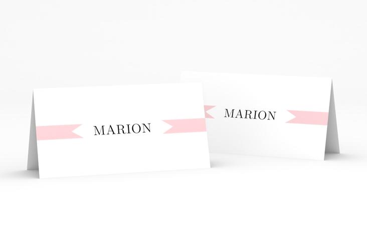 """Tischkarte Hochzeit """"Tender"""" Tischkarten rosa"""
