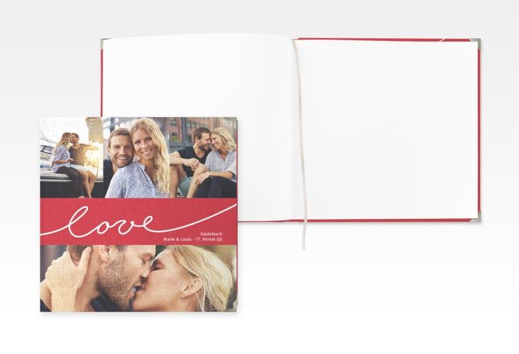 """Gästebuch Selection Hochzeit """"Line"""" Leinen-Hardcover"""
