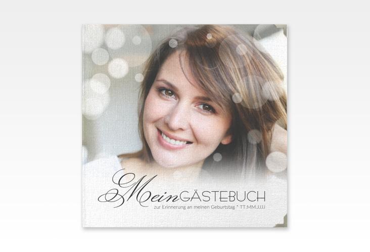 "Gästebuch Selection Geburtstag ""Luminous"" Leinen-Hardcover"
