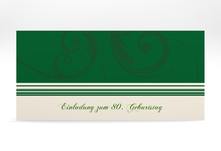 "Einladungskarte ""Katharina"" DIN lang gruen"