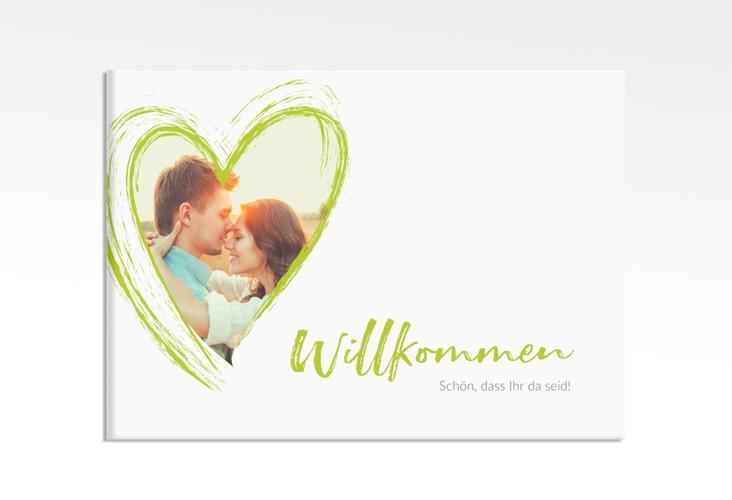 """Willkommensschild Leinwand """"Liebe"""" 70 x 50 cm Leinwand gruen"""