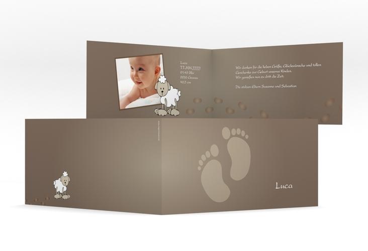"""Geburtskarte """"Feet"""" DIN lang Klappkarte"""
